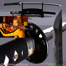 Knife Samurai Sword Broadsword Kill Bill Katana Hand Folded Carbon Steel #2447