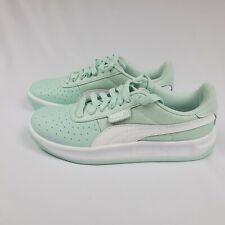 Puma California Sneakers Tennis Running Shoes Leather Aqua green