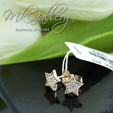 925 STERLING SILVER STARS EARRINGS STUDS WITH ZIRCONIA - ROSE GOLD PLATED