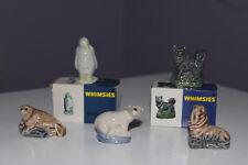 WADE WHIMSIES - SET TWELVE of Red Rose Tea  - DEEP BLUE Box - Nos 56 - 60 - 1980