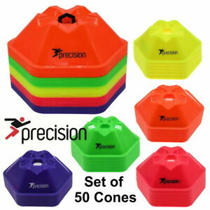 NEW PRECISION PRO HX SAUCER CONES MARKERS FOOTBALL TRAINING SET OF 50 - BOXED