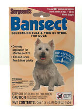 Dog Flea & Tick Control Easy Squeeze On Application Kills Repels Up To 4 Weeks