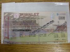 """22/11/2003 Ticket: Burnley v Rotherham United [Stamped """"RUFC""""] . Any faults with"""