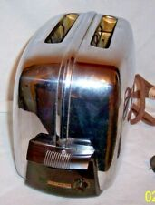 Vintage Toastmaster 1B14 Chrome Automatic Toaster Two Slices Tested ! Working !