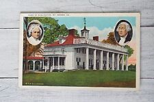 Vintage Mount Vernon Virginia Acacia Club Postcard George Washington