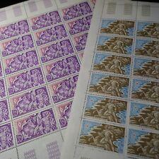 FEUILLE SHEET MÓNACO Nº1387/1388 x30 CRUZ ROJO MONEGASQUE 1983 NEUF MNH