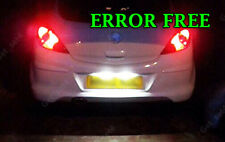 Vauxhall ASTRA CORSA C D Number Plate ERROR FREE XENON ICE WHITE LED LIGHT BULBS
