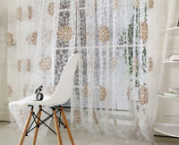 Window Balcony Curtain Tulle Voile Door Panel Sheer Scarf Room Divider Valances