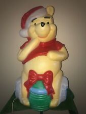 "Vintage Santa's Best Christmas 34"" Winnie The Pooh Bear Lighted Blow Mold Decor"