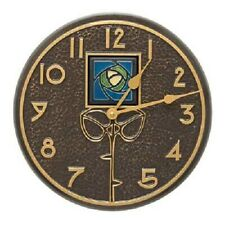 "Blue Dard Hunter Rose French Bronze Colored 12"" Clock by Whitehall Products"