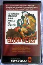 BLOOD FEAST,  ASTRA PAL PRE CERT EX RENTAL BIG BOX DPP39 VIDEO NASTY