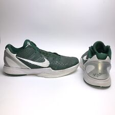 buy online dafee 097c7 Nike Zoom Kobe VI 6 Basketball Shoes Gorge Green White Silver Men s Size 13