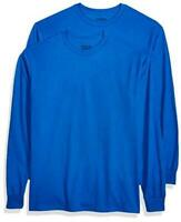 Gildan Men's DryBlend Adult Long Sleeve T-Shirt, 2-Pack,, Royal, Size XX-Large y