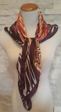 MISSONI 100% Silk Scarf Made in Italy