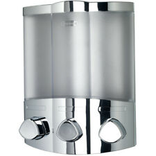 Euro Croydex Aviva Trio Chrome Soap Shampoo Triple Bathroom Shower Dispenser NEW