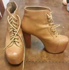Jeffrey Campbell Size 8.5M Tan/Mustard Leather Boot