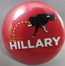 WHOLESALE LOT OF 12 DOG PISS ON HILLARY BUTTONS pissing Anti Clinton Trump  2016