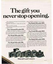1970 POLAROID Land Camera Colorpak II,320,330,340,350,360 VTG PRINT AD