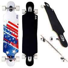 Longboard Area American USA Flag Neu Komplett Skateboard