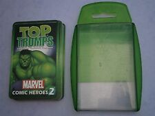 T20) Top Trumps Marvel Comic Heroes 2 all 33 cards Great condition - with case