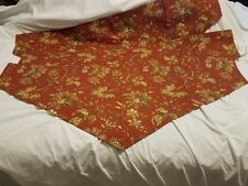 """3 Handmade Rust Floral 49"""" wide Curtain Valances New"""