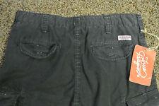 TRUE RELIGION CARGO BOARD Sample Shorts 32 NWT$259 Shaded Black!Signature Logo's