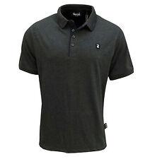 Gio Goi Men's Borax Polo T Shirt Charcoal
