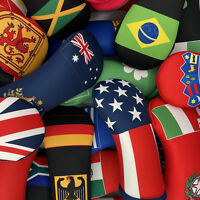World Flag Themed Golf Club Head Covers
