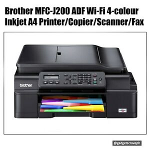 Brother MFC-J200 ADF Wi-Fi 4-colour Inkjet A4 Printer/Copier/Scanner/Fax