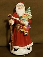 """Lefton Santa Claus Father Christmas Musican Figurine Plays """"Silver Bells"""""""