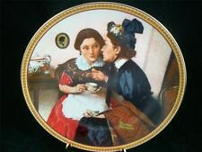 Edwin Knowles Norman Rockwell Gossiping in the Alcove Ltd China Plate Euc