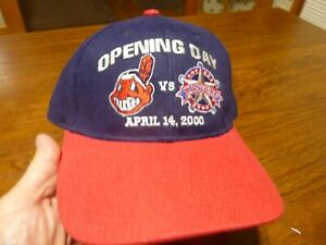 Cleveland Indians Opening Day Baseball Cap Hat 2000 Texas Rangers