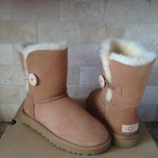 UGG Classic Short Bailey Button II Water-resistant Chestnut Boots Size 9 Womens