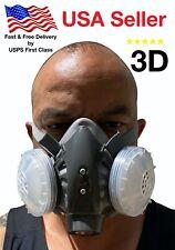 3D Half Face Respirator, LARGE, BRAND NEW, August 2020 STOCK, respirator paint