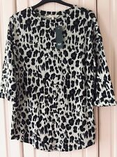Brand New Super Soft Animal Print Stretch Lightweight Jumper Size 12