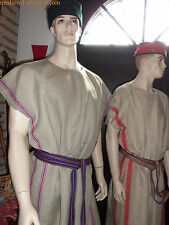 RARE Roman Tunic German LINEN red striped Reenactor XXL NEW Tunique LIN Romain