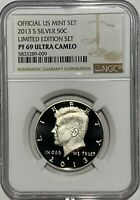 2013 S PROOF SILVER KENNEDY LIMITED EDITION SET NGC PF69 ULTRA CAMEO