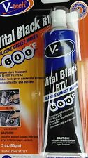 SILICONE GASKET SEALANT VITAL BLACK RTV  ENGINE,OIL PAN,VALVE COVER,CAR,VAN