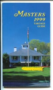 Masters Golf Tournament Yardage Guide 4/2/1999-details for each hole-VF