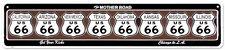 Route 66 8 Shields Tin Sign - 24x5