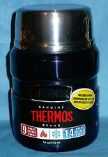 Thermos Stainless King Food Jar with Folding Spoon 16 ounce Midnight Blue/Black?