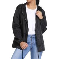 Womens Warm Hooded Long Coat Rain Jacket Ladies Windbreaker Parka Outwear M980