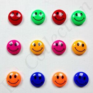 12X Smiley Face Fridge Magnets Magnetic Office Kitchen Cute Clip Holder Large UK