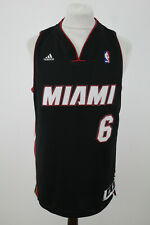 More details for adidas nba miami #6 james jersey size m