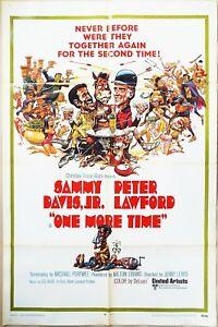 One More Time 1970 Sammy Davis Jr & Peter Lawford as Salt & Pepper! US Poster