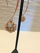 Rose gold colored Crystal Drop Earrings - New - Retail $69.00