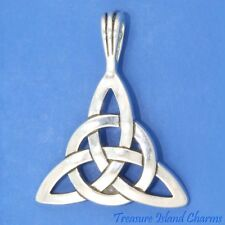 Celtic CIRCLE OF LIFE Triquetra Trinity Knot .925 Solid Sterling Silver Pendant