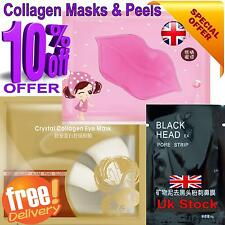 Facial Peel off Masks Pamper Set Collagen Lip,Eye & Face Mask Stop Acne Spot uk