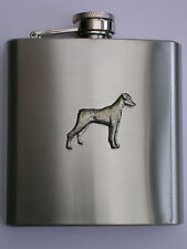 Doberman Pinscher dog BRAND NEW 6OZ STAINLESS STEEL HIP FLASK great gift!!