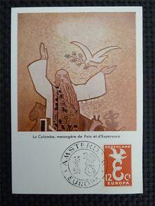 NIEDERLANDE MK 1958 EUROPA CEPT MAXIMUMKARTE CARTE MAXIMUM CARD MC CM c3504